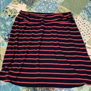 Dresses & Skirts - Navy/Coral mini skirt/ size M-Brand New Condition